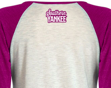 Load image into Gallery viewer, Southern Blessed 3/4 Raglan Ladies T-Shirt - The Southern Yankee