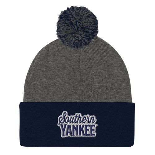 Southern Yankee Embroidered Pom-Pom Beanie - The Southern Yankee