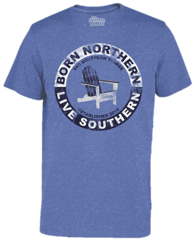Born Northern Live Southern Classic Vintage Tee - The Southern Yankee