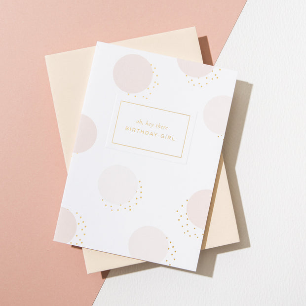 A L'aise - 'Birthday Girl' Card - Vellum Pink Envelope