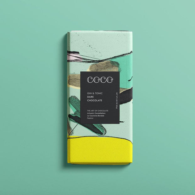 COCO - Gin & Tonic Dark Chocolate 80g