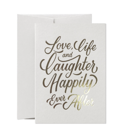 Card Nest - 'Love, Life and Laughter' Greetings Card
