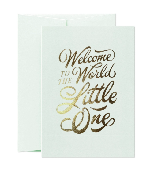 Card Nest - 'Welcome Little One' Greetings Card