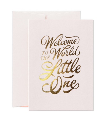 Card Nest - 'Welcome Little One' Pink Greetings Card