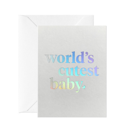 Card Nest - 'World's Cutest Baby' Mini Greetings Card