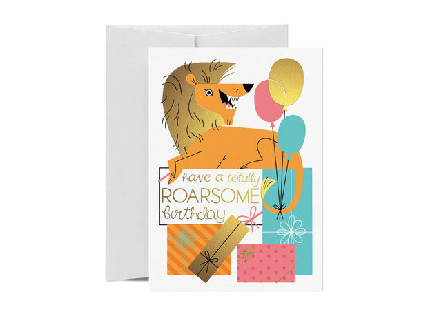 Card Nest - 'Totally Roarsome!' Greetings card