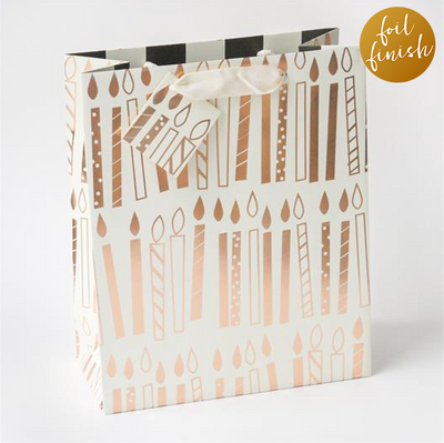 Caroline Gardner - Cameo Foil Candles Large Gift Bag