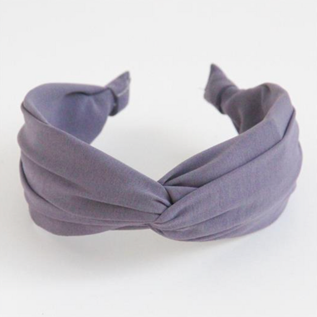 Caroline Gardner - Grey Lilac Wide Twist Hairband