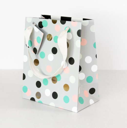 Caroline Gardner - Kaleidoscope Medium Grey Gift Bag