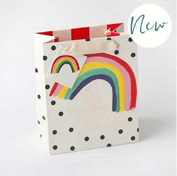Caroline Gardner - Rainbow Medium Gift Bag