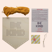 Cotton Clara - 'Be Kind' Tasseled Embroidery Kit