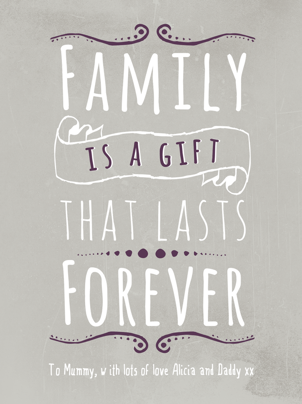 "Art Print - ""Family is a Gift"""