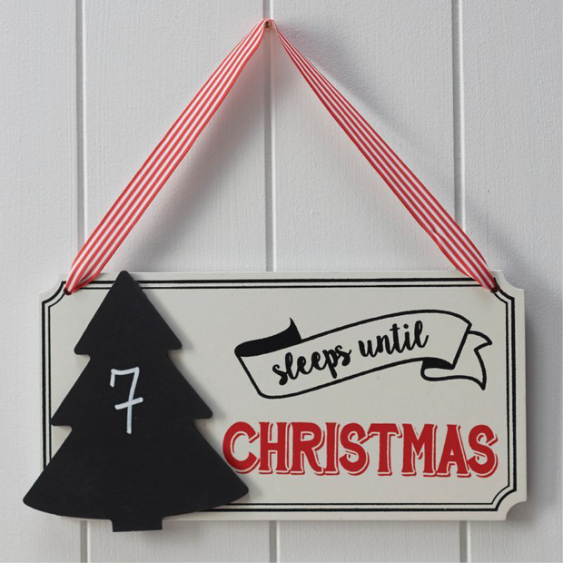 Ginger Ray - Sleeps Until Christmas Chalkboard Sign