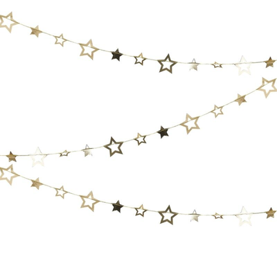 Ginger Ray - Gold Star Hanging Garland