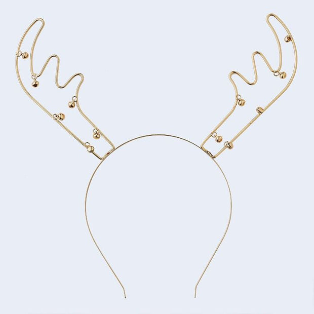 Ginger Ray - Reindeer Antlers Metal Christmas Party Headband