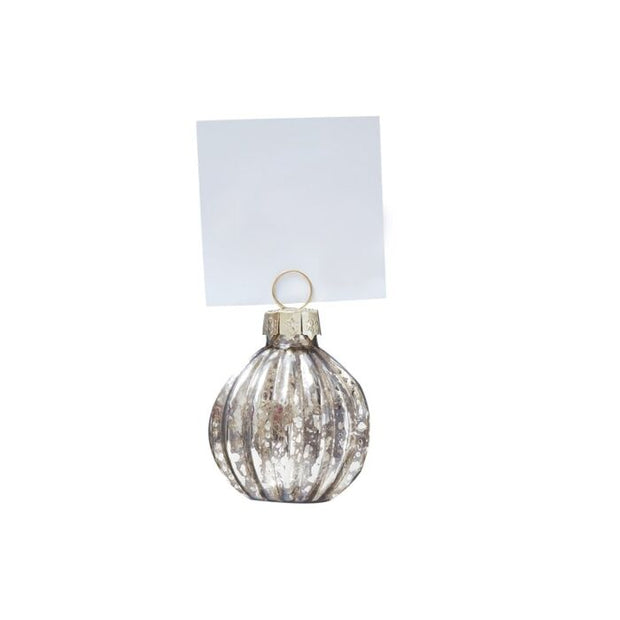 Ginger Ray -Gold Christmas Bauble Place Card Holders