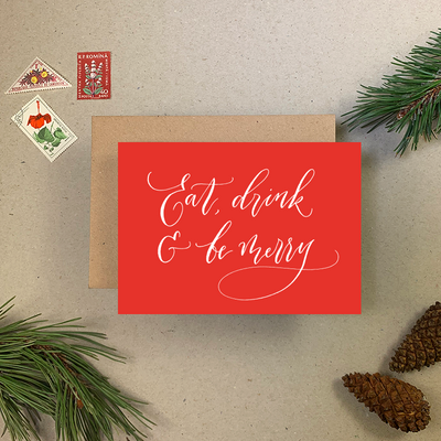 Imogen Owen - Eat Drink & Be Merry Christmas Card