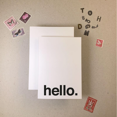 Imogen Owen - 'HELLO.' Greetings Card