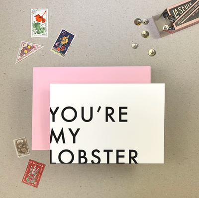 Imogen Owen - 'MY LOBSTER' Greetings Card