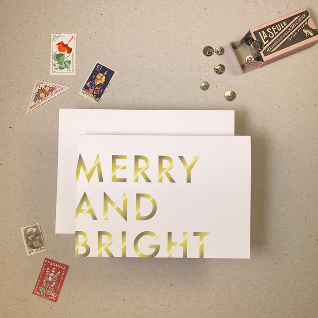 Imogen Owen - Merry and Bright Christmas Card