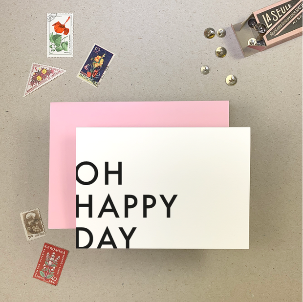 Imogen Owen - 'OH HAPPY DAY' Greetings Card