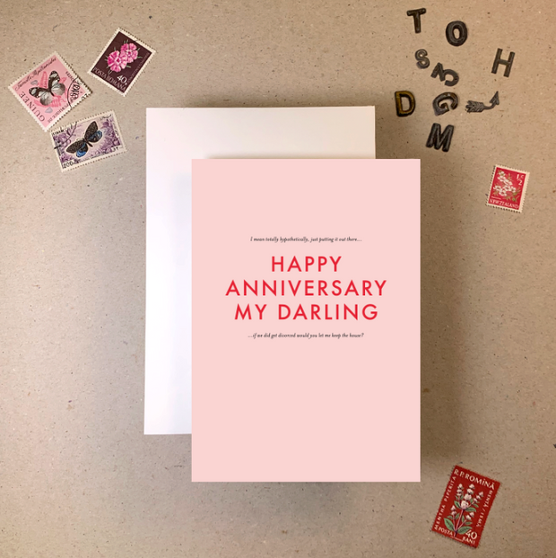 Imogen Owen - 'Happy Anniversary my darling' Greetings Card