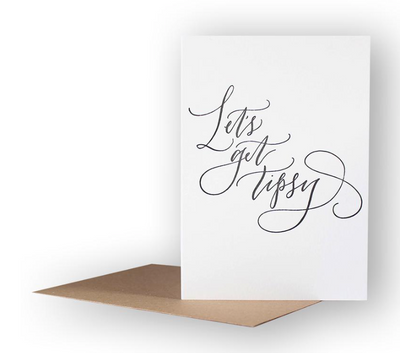 Imogen Owen - 'Let's get tipsy' Greetings Card