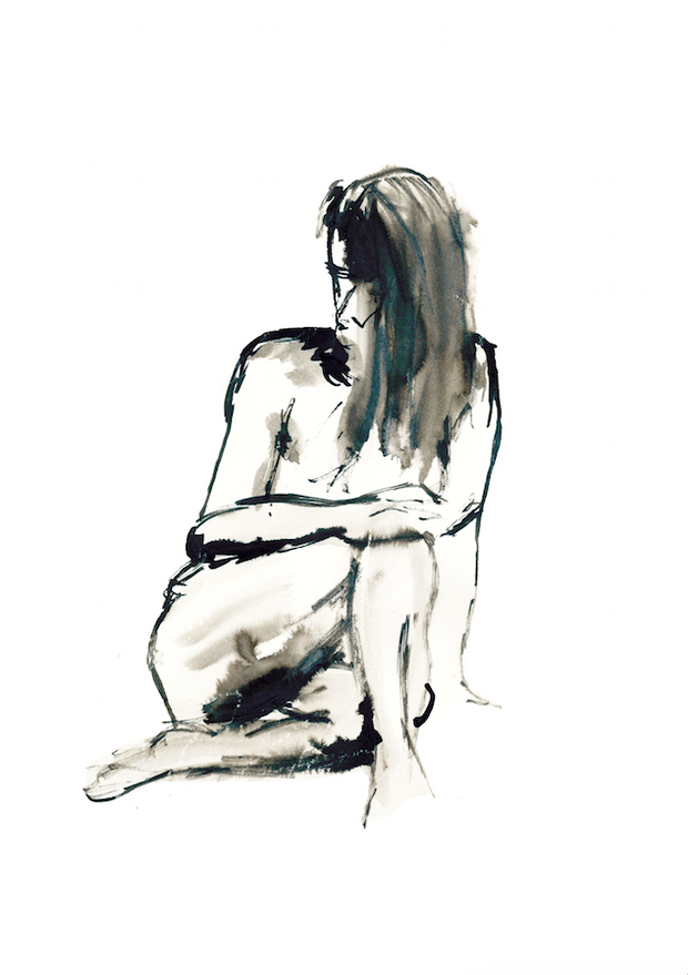 // Limited Edition // Female Life Drawing Art print - TLPS House Collection