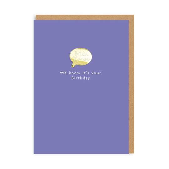 Ohh Deer - Bitch Please Enamel Pin Greeting Card