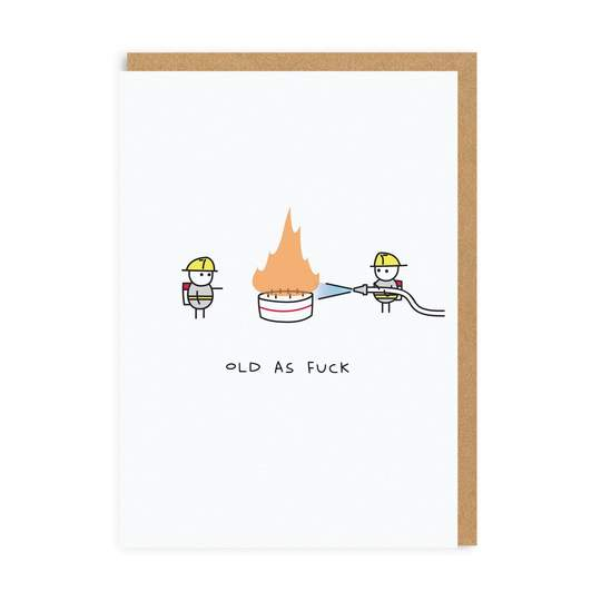 Ohh Deer -  Old As Fuck Greeting Card
