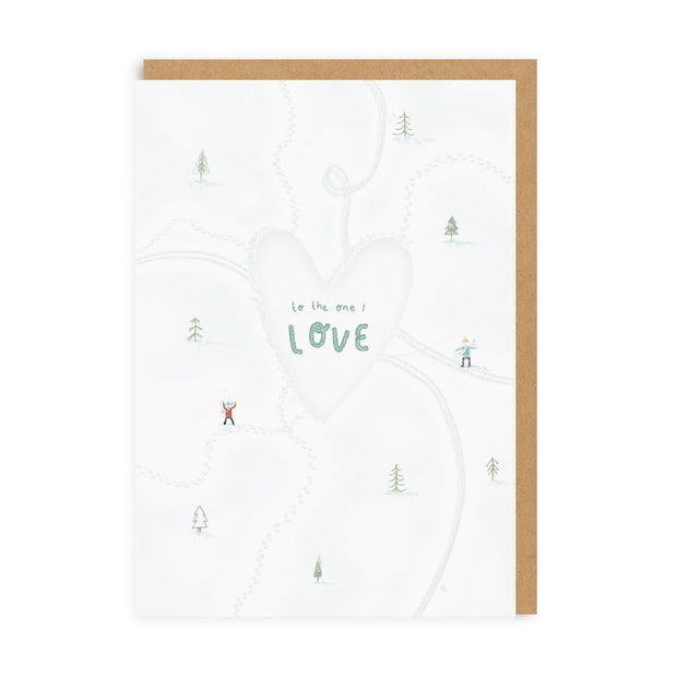 Ohh Deer - Skaters One I Love Greeting Card