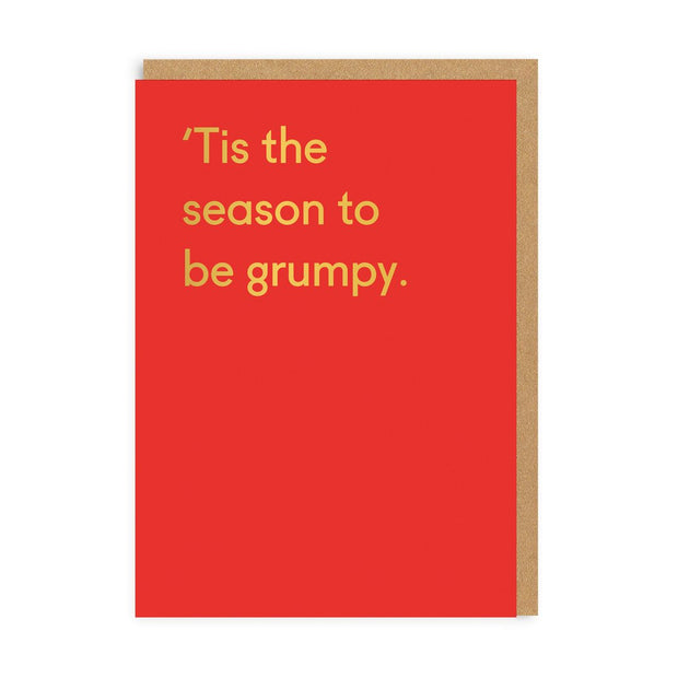 Ohh Deer - Tis The Season To Be Grumpy Greeting Card