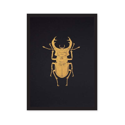 Ohh Deer - A4 Stag Beetle Riso Print