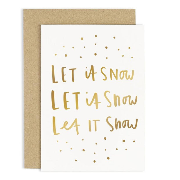 Old English Co - Let It Snow Christmas Card