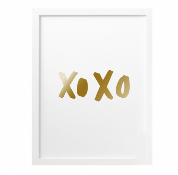 Old English Co. - XOXO Foil Print