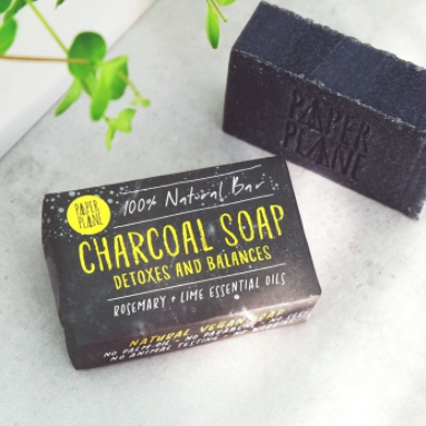 Paper Plane - Charcoal Soap Detox Bar 100% Natural Vegan