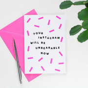 Paper Plane - Your Instagram Will Be Unbearable Now - New Baby Card