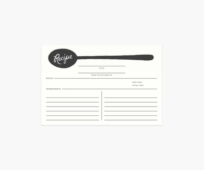 Rifle Paper Co. - Charcoal Spoon Recipe Cards