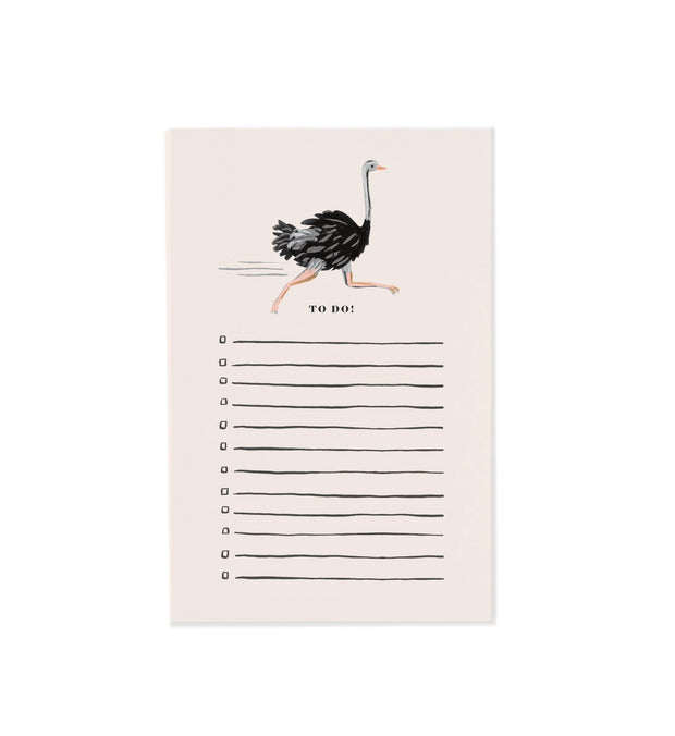 Rifle Paper Co. - Ostrich Notepad