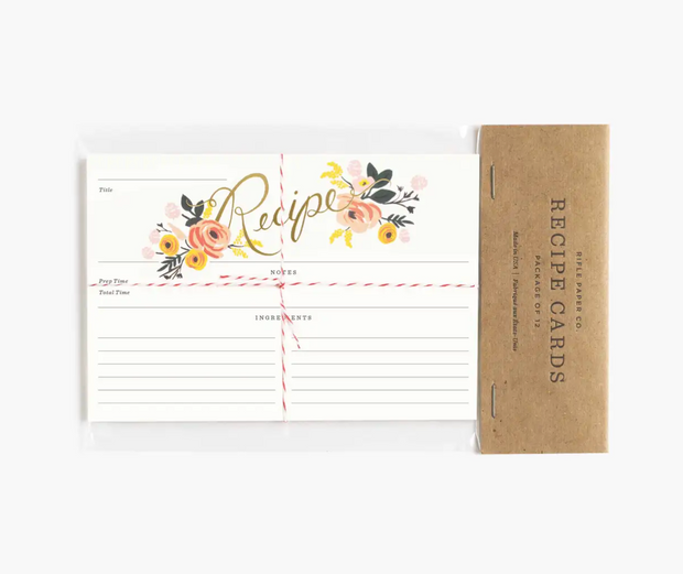Rifle Paper Co. - Peony Recipe Cards