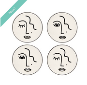 Sass & Belle - Abstract Face Coasters (Set of 4)