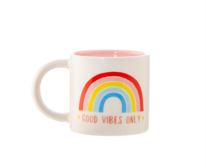 Sass & Belle - Chasing Rainbows Good Vibes Only Mug