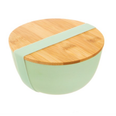Sass & Belle - Mint Green Bamboo Bowl with Lid