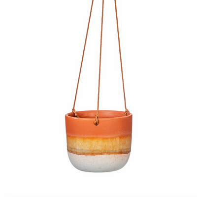 Sass & Belle - Mojave Glaze Brown Hanging Planter