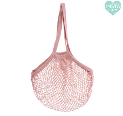 Sass & Belle - Pink String Shopper Bag