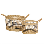 Sass & Belle -  Seagrass Open Weave Baskets - Set of 2