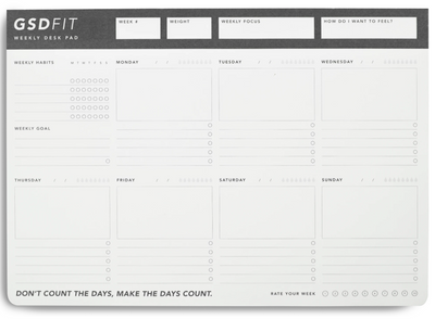MiGOALS - GSD FIT A4 WEEKLY DESK PAD