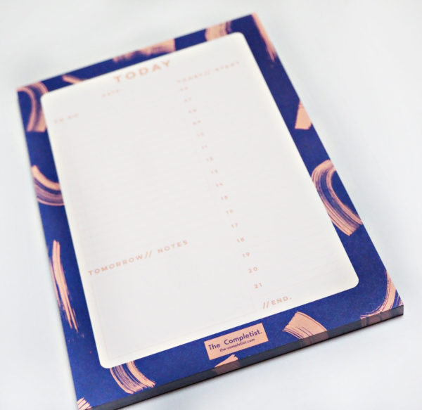 The Completist - Blue Shadow Brush Planner Pad