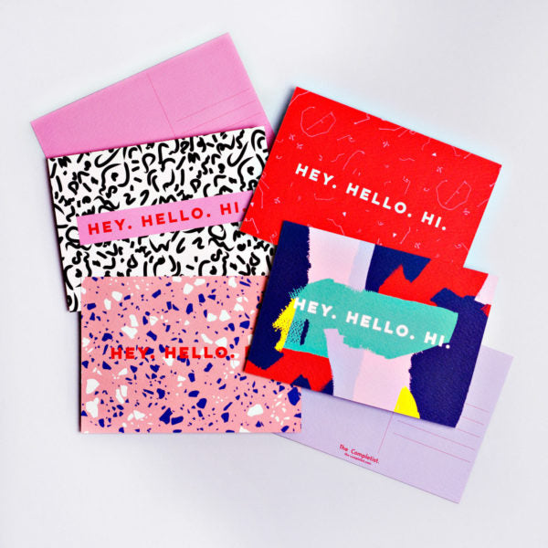 The Completist - Hey Hello Hi Multi Postcard Set