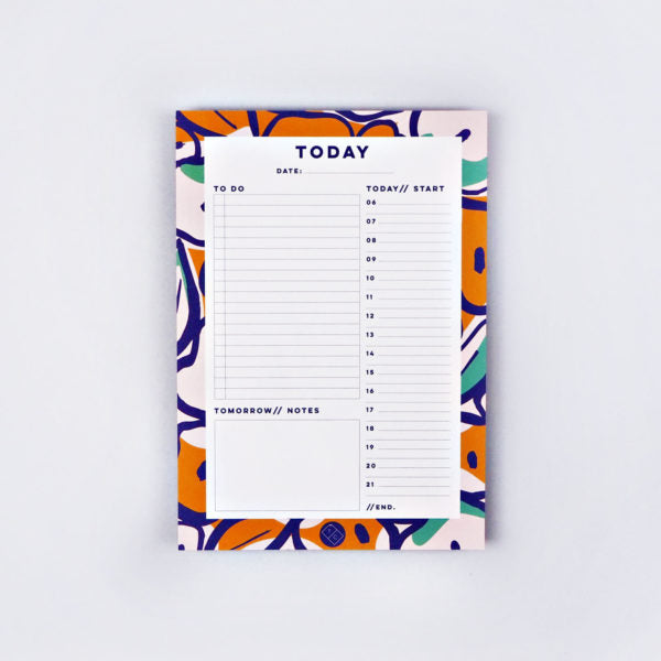 The Completist -  Inky Flower Daily Planner Pad